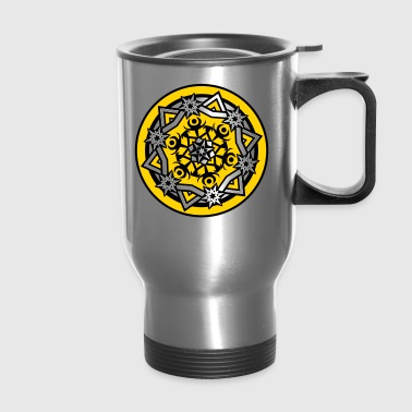 Mandala Design - Abstract Snowflake - Travel Mug