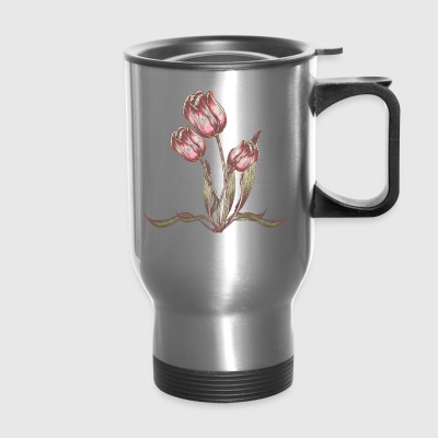 Vintage Tulip flower - Travel Mug