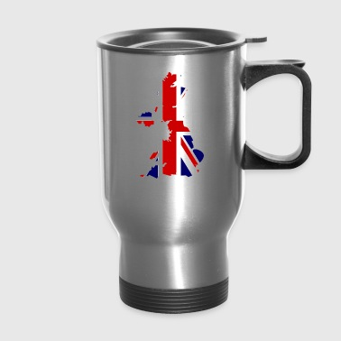 British Flag Map United Kingdom Symbol - Travel Mug