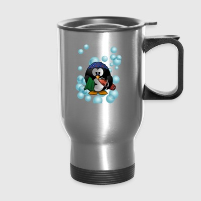 Cute Swimmer Penguin Swimming - Travel Mug