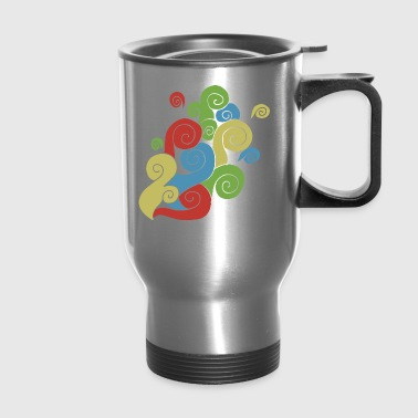 Bright Color Swirls - Travel Mug