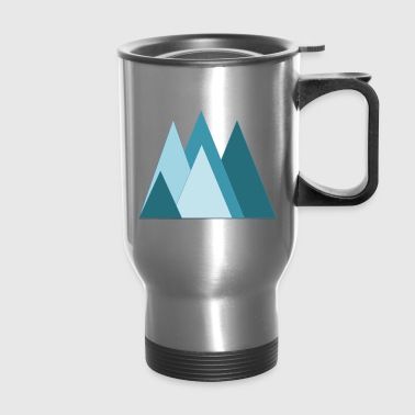 mountain triangles - Travel Mug