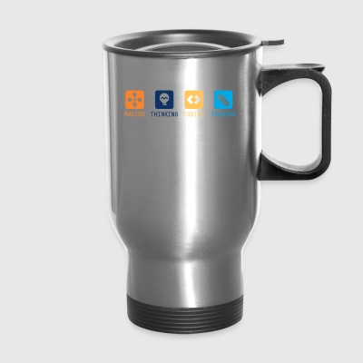 Making-Thinking-Coding-Drawing - Travel Mug