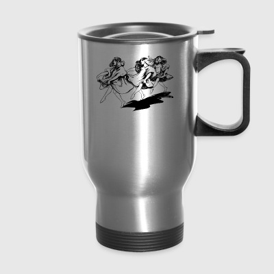 dancing girls - Travel Mug