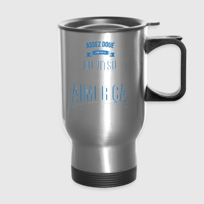 Jiu-Jitsu gifted crazy gift man - Travel Mug