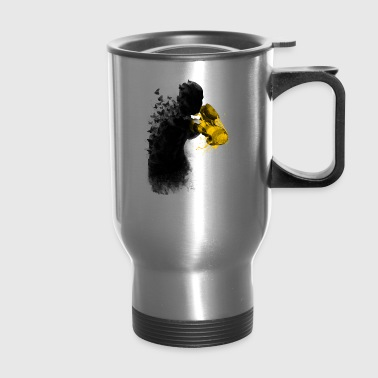 the butterflies and the gloves of stinger - Travel Mug