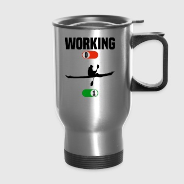 Working OFF boat water sport ON gift - Travel Mug