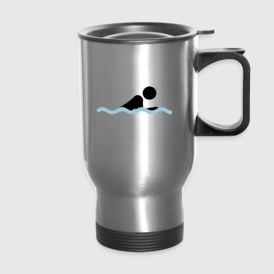 swimming - Travel Mug