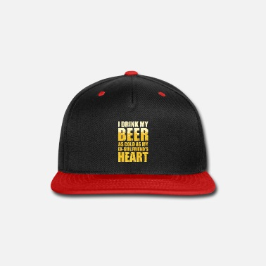 Ex Lover Funny Cold Beer Shirt Ex-Girlfriend Heart Ale IPA - Snapback Cap