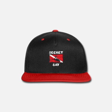 Baywatch Secret Bay Diving Flag funny women - Snap-back Baseball Cap