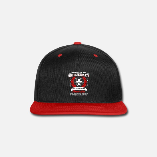 Emergency Caps - Rescue Shirt - Emergency call - therapy - Snapback Cap black/red