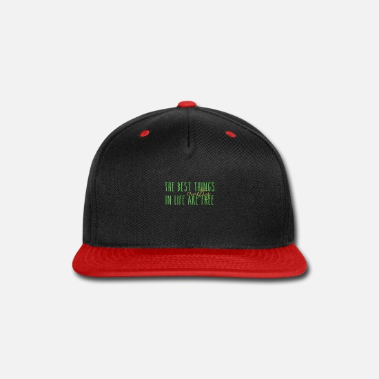 Gift Idea Caps - Free gift tee shirt - Snapback Cap black/red