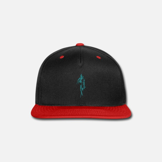Kids Caps - Cool Horse riding drawing Art Design Gift Ideas - Snapback Cap black/red
