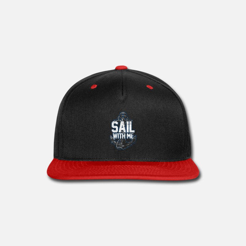 Anchor Caps - Sailing - Snapback Cap black/red
