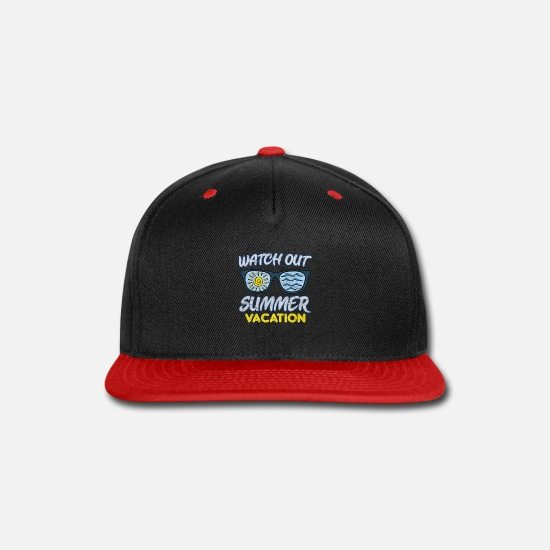 Family Caps - Watch Out Summer Vacation - Snapback Cap black/red
