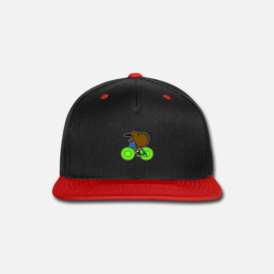 New Zealand Caps - New Zealand Bird Kiwi - Snapback Cap black/red