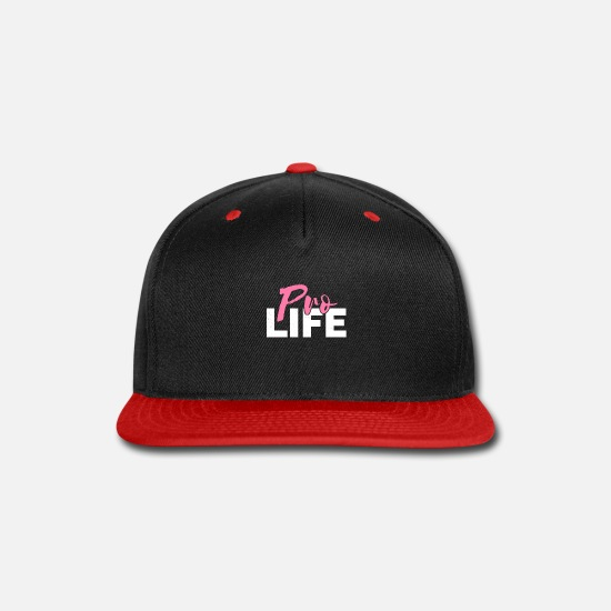 Pro Caps - Pro Life Anti Abortion Pink - Snapback Cap black/red