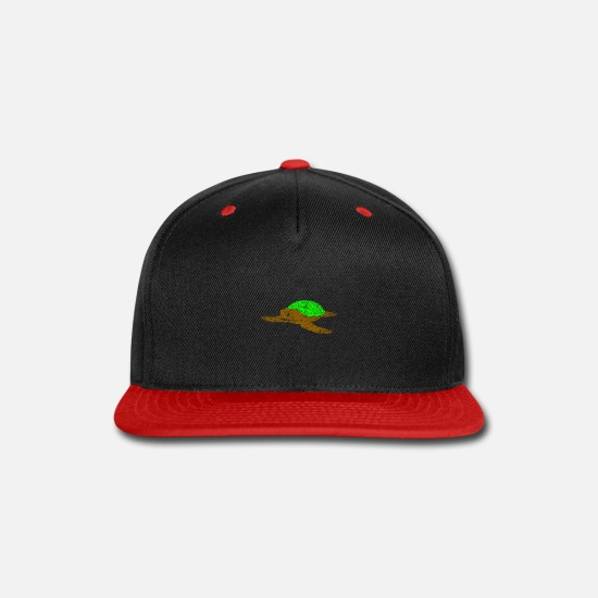 Climate Caps - Turtle Zoo Gift Idea - Snapback Cap black/red