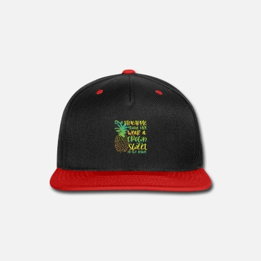 Prohibited Be a Pineapple | sweet botanical & fruitarian gift - Snapback Cap