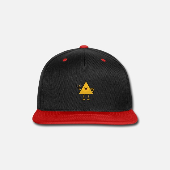 Work Out Caps - Chips in his Kettlebell - Snapback Cap black/red