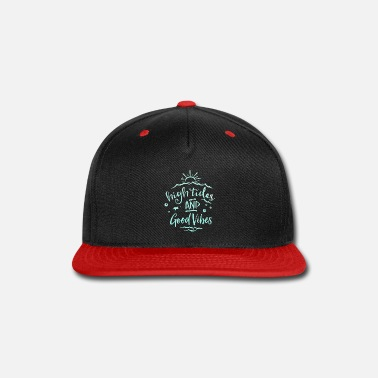 Tide High Tides Good Vibes Sun Summer Vacation Beach - Snapback Cap