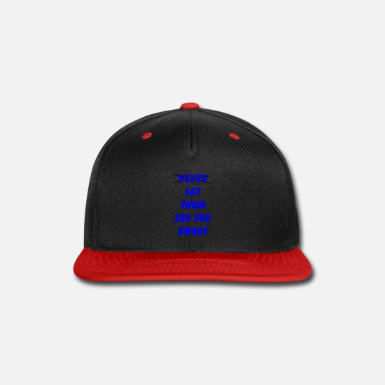 Tank Caps - Let Them See You Sweat - Snapback Cap black/red
