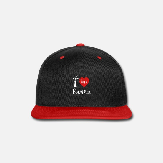 Love Caps - I Love Russia - Snapback Cap black/red
