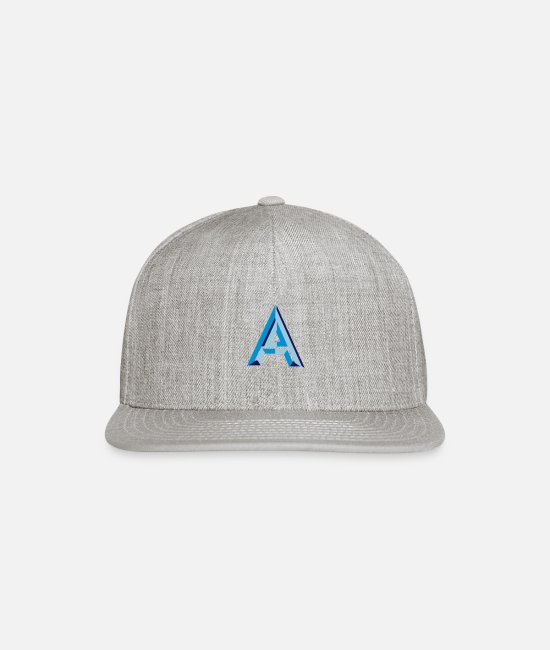 Alphabet Caps & Hats - Letter A - Snapback Cap heather gray