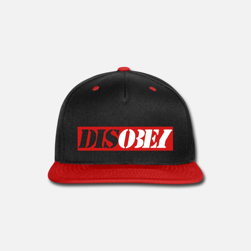 Disobey Caps - Disobey - Snapback Cap black/red