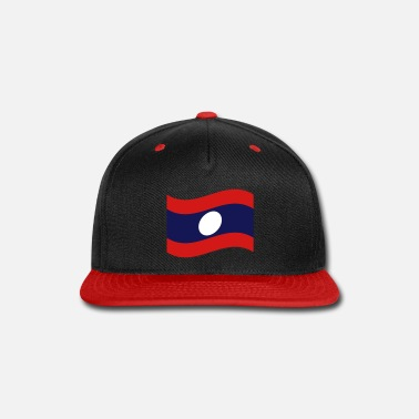 Laos Laos / Lao Flag Wave - Snap-back Baseball Cap