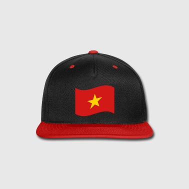 Vietnamese Vietnam Flag Wave - Snap-back Baseball Cap