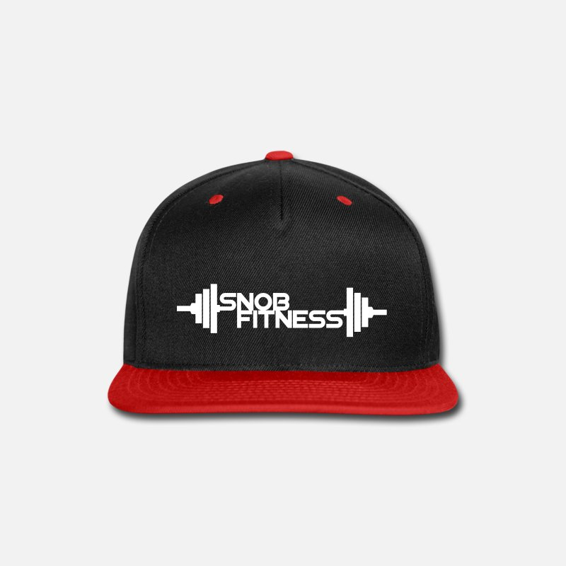 Fitted Caps - Snob Fitness Weight Logo - Snapback Cap black/red