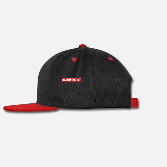 Am Caps - I am worth it Hash Tag Shirt # - Snapback Cap black/red