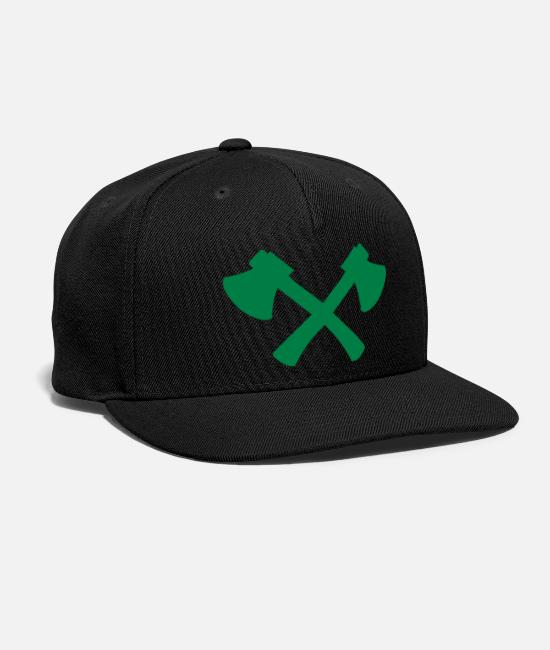 Hunt Caps & Hats - axes crossed - Snapback Cap black