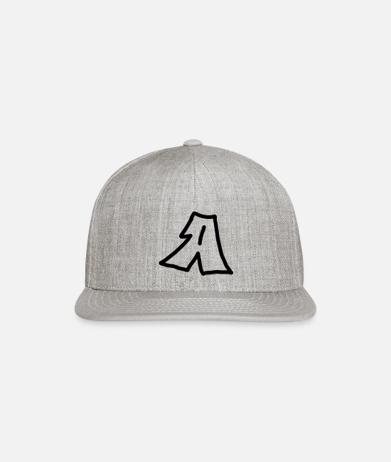 Letter (sign) Caps & Hats - Letter A - Snapback Cap heather gray