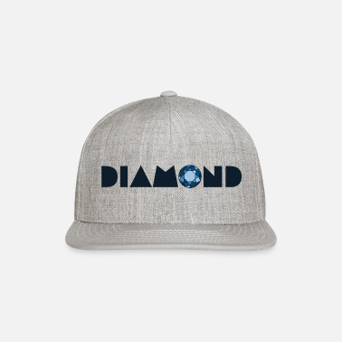 Brilliant cut blue diamond - Snapback Cap