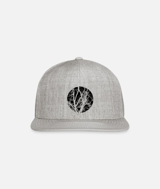AST Caps & Hats - Trees branches - Snapback Cap heather gray