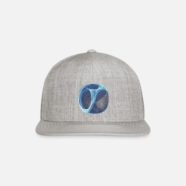 Space blue-white flow of ice and fog 12493ice - Snapback Cap