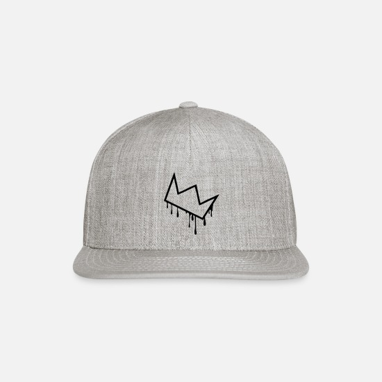 Drip Caps - crown drip - Snapback Cap heather gray