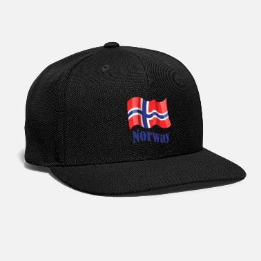 Norwegian Norwegian Flag - Snapback Cap