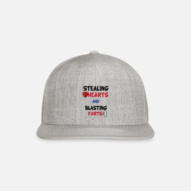 Funny Valentines Day Stealing Hearts And Blasting - Snapback Cap