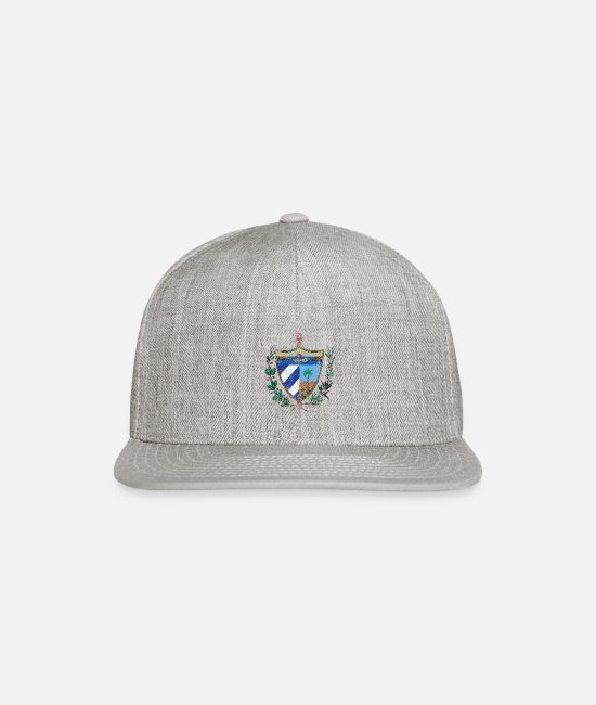 Design Caps & Hats - Cuban Coat of Arms Cuba Symbol - Snapback Cap heather gray