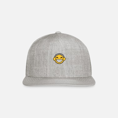 Smiley Headphones Headphones Smiley funny tshirt - Snapback Cap