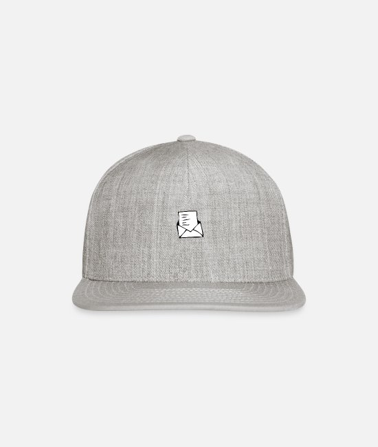 Mail Caps & Hats - letter - Snapback Cap heather gray