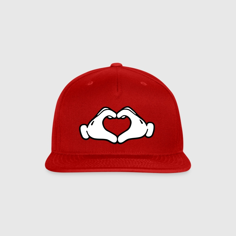 Mickey LOVE hands - Snap-back Baseball Cap