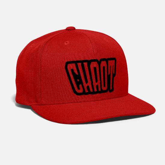 Chaot Caps - chaot - Snapback Cap red