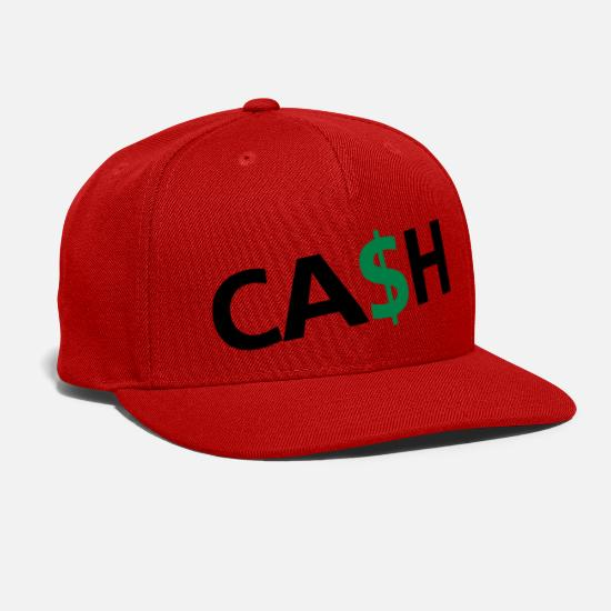 Cash Money Caps - Cash - Snapback Cap red