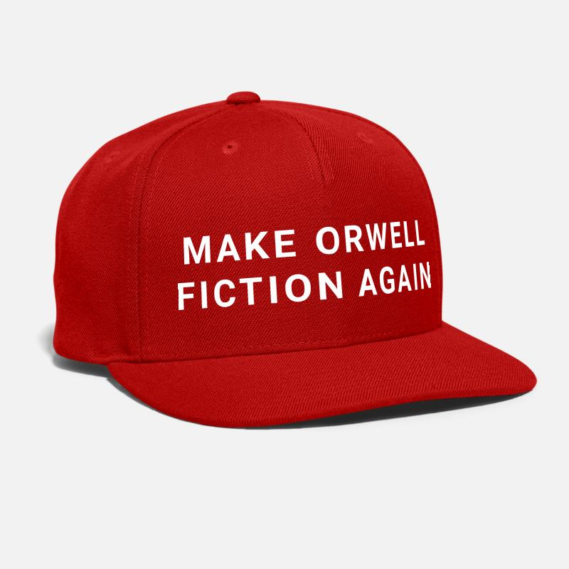 Fiction Caps - Make Orwell Fiction Again - Snapback Cap red