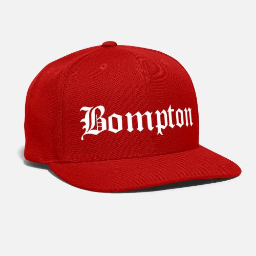 bdc027ae1eb ... bompton - Snapback Cap red. Do you want to edit the design