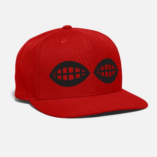 Shortsighted Caps - Lens bars - Snapback Cap red